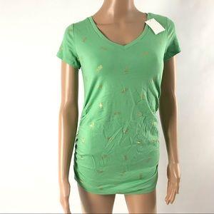 Motherhood Maternity Women's Top Size XS Green